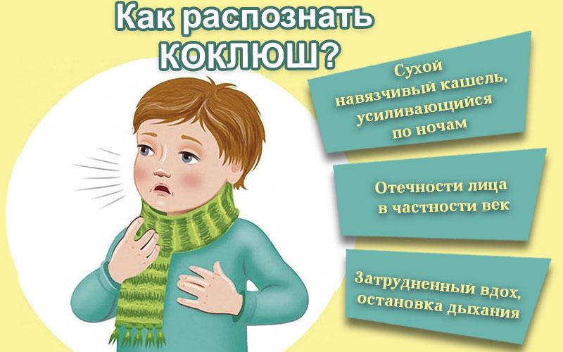 Как распознать коклюш у детей?