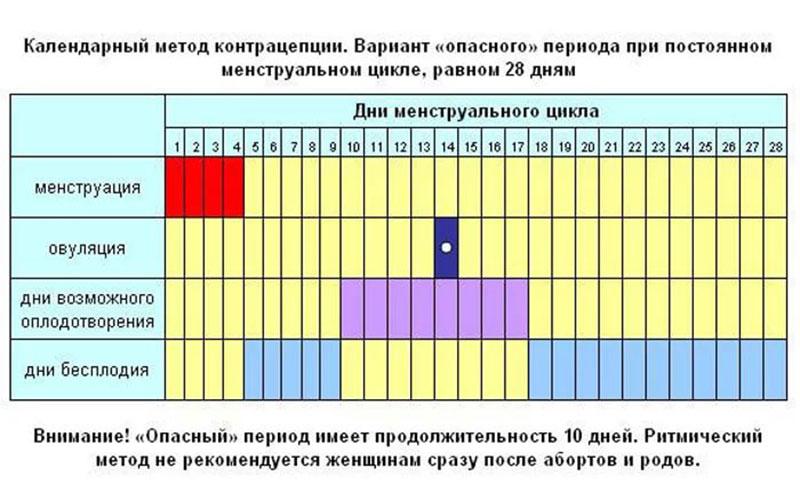 календарный метод подсчета овуляции