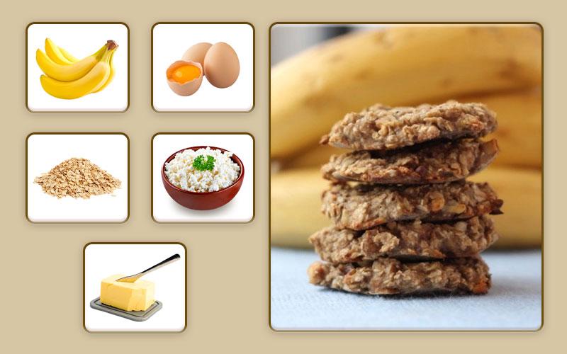 Банановое печенье для начала прикорма