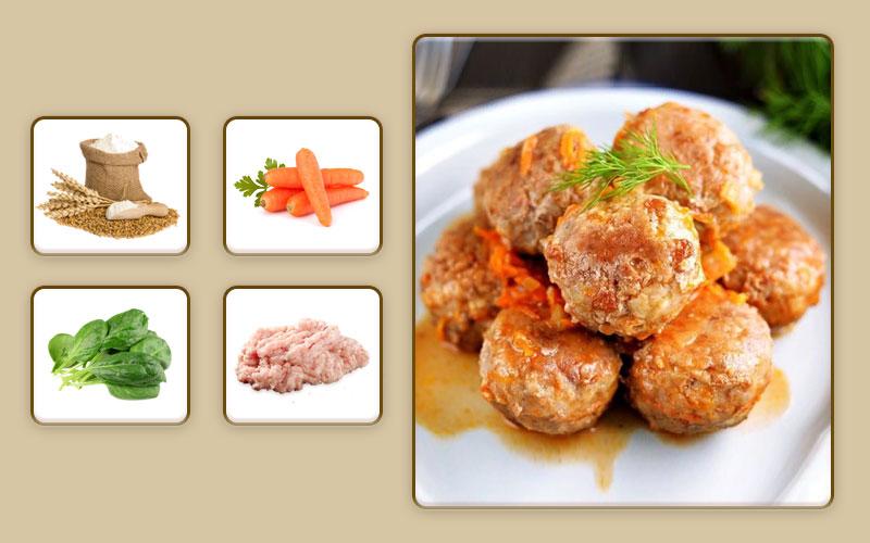 Фрикадельки из курицы и овощей для начала прикорма