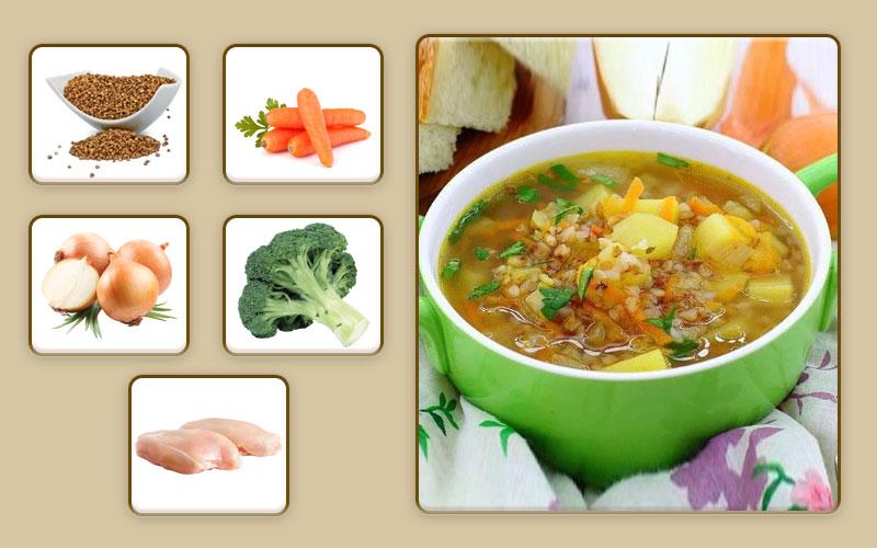 Гречневый суп с курицей для начала прикорма