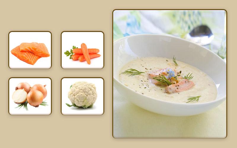 Рыбный суп-пюре для начала прикорма