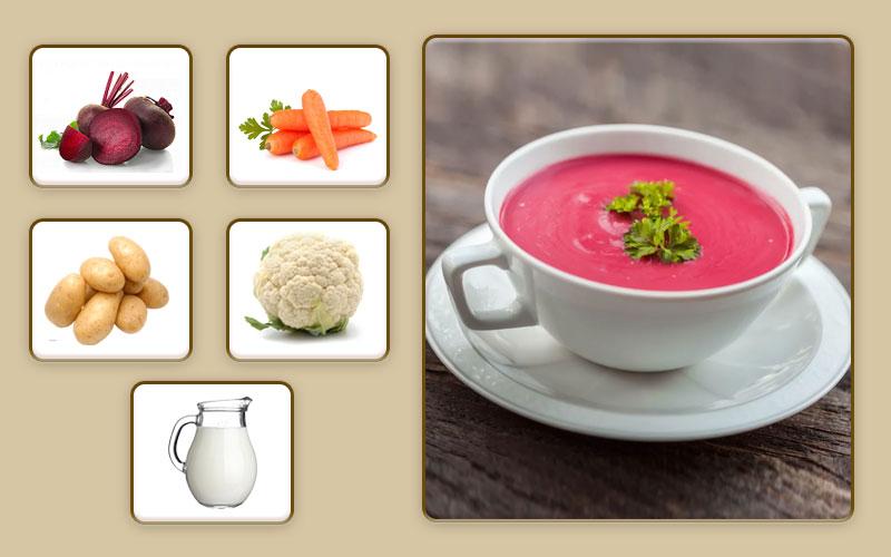 Свекольный суп-пюре для начала прикорма
