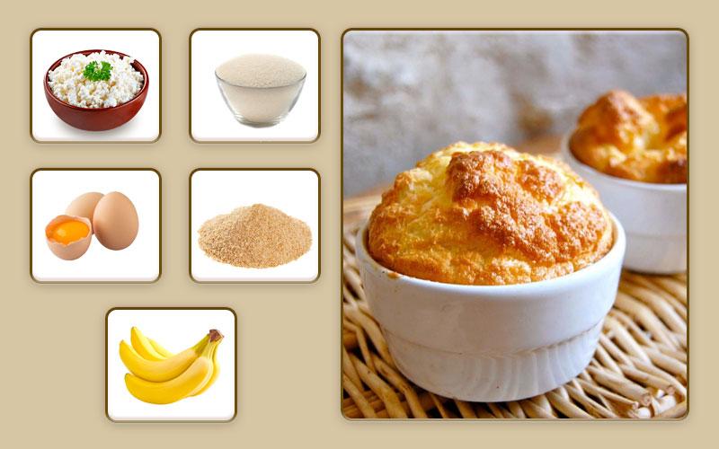Творожно-банановое суфле для начала прикорма