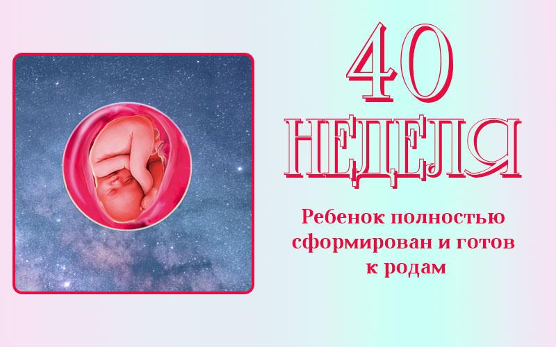 Состояние плода на 40 неделе беременности