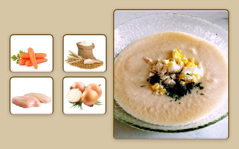 Суп-пюре из кролика в мультиварке