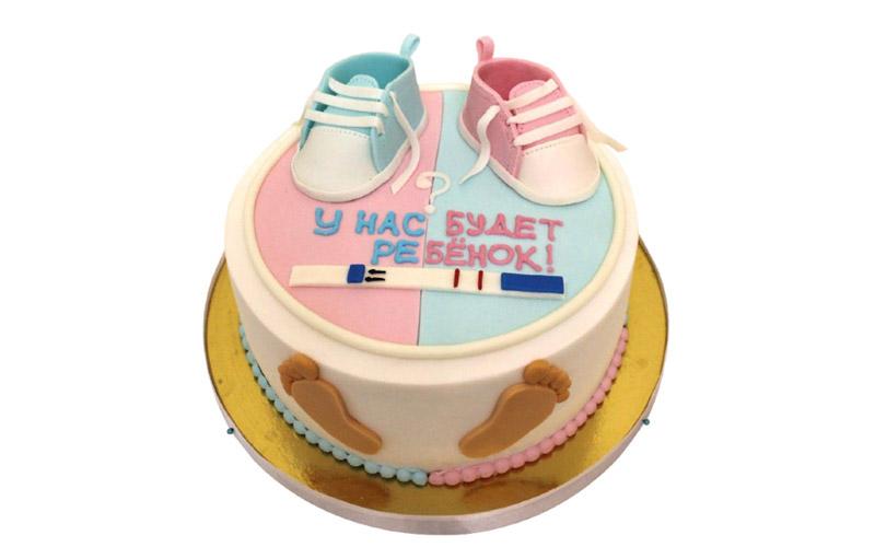 торт чтобы рассказать о беременности