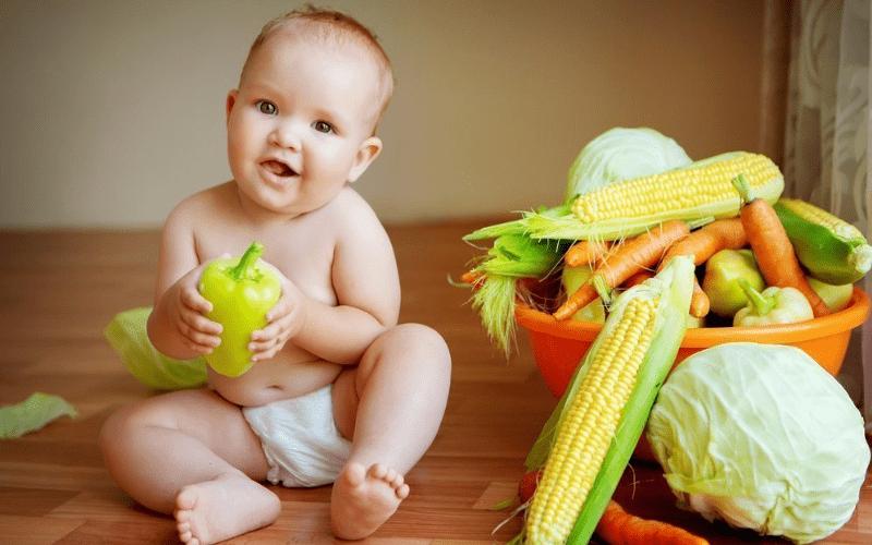 Вегетарианство для детей - первые 6 месяцев