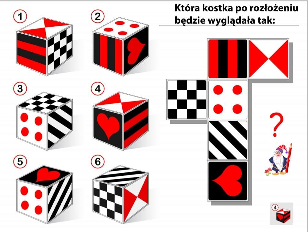 5. Логическая головоломка для детей: куб.