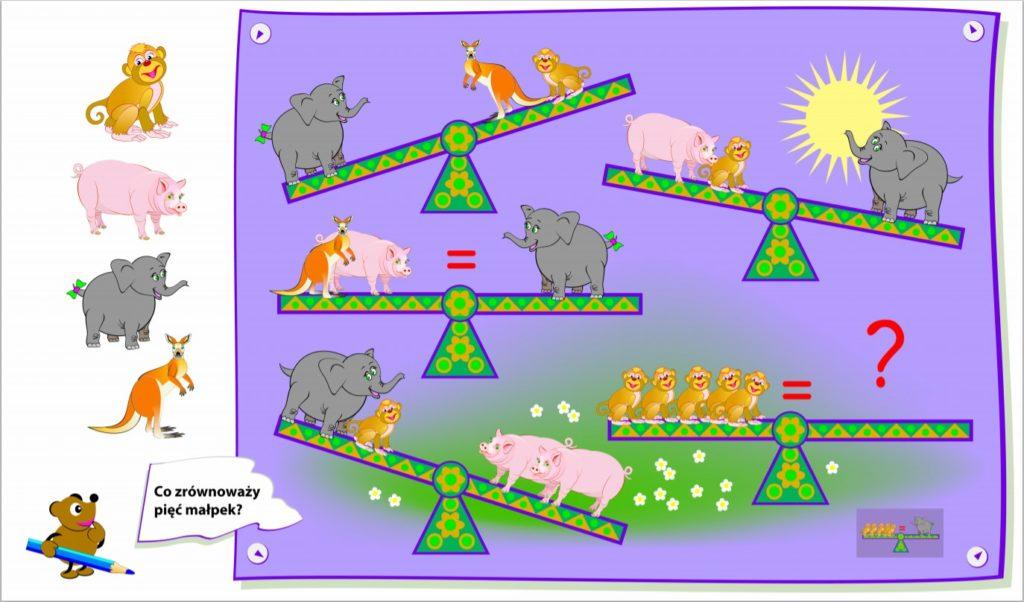 4. Логическая головоломка для детей постарше: баланс.